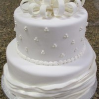 Fondant Wedding Cake with Silver Shimmer Dust
