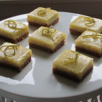 """Key to My Heart"" Lime Bar Bites (with candied lime peel)"