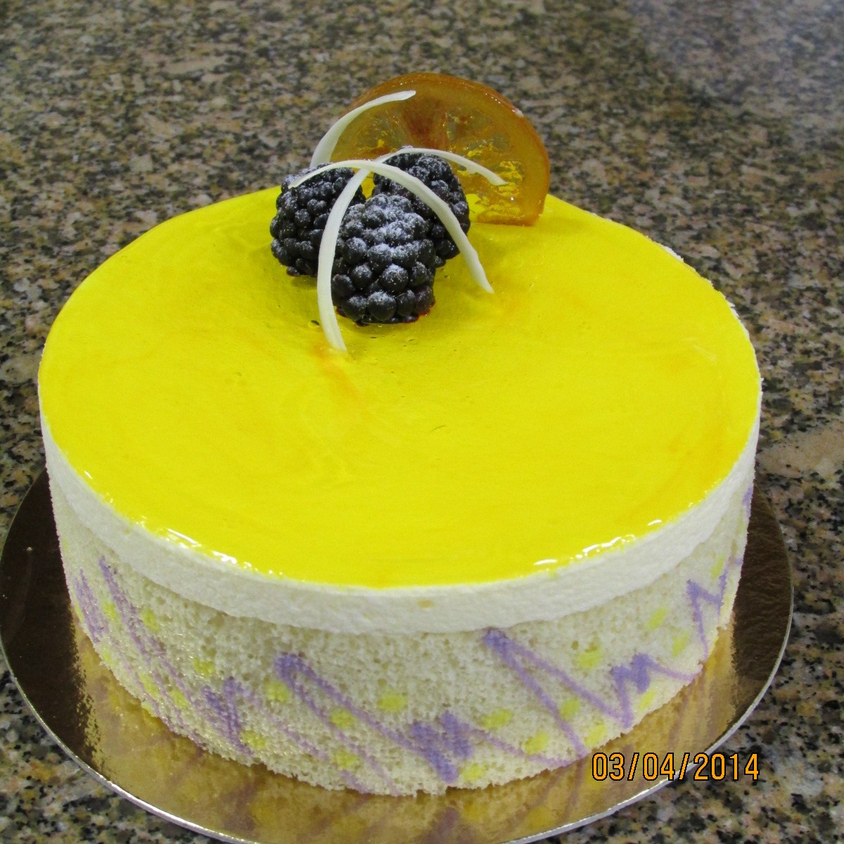 Lemon Blackberry Mousse Cake