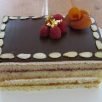 Marzipan Vanilla Fruit Layer Cake