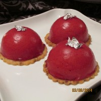 """Take Me Home"" Ruby Slipper (morello cherry mousse entremet)"