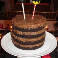 Wedding Cake at The Sanctuary – Naked German Chocolate Cake