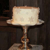 Winter Wonderland Wedding Cake at Kelley Farm